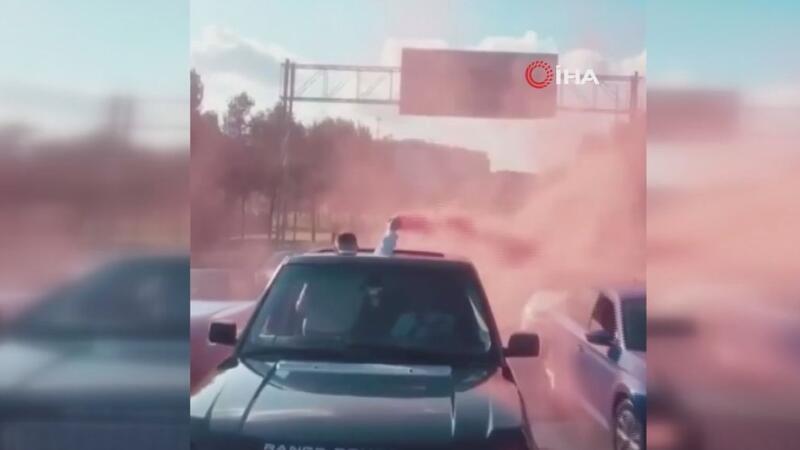 İstanbul'da düğün konvoyunda şoke eden görüntüler kamerada