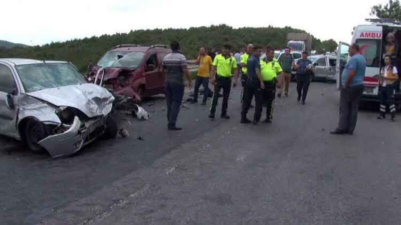 Kuzey Marmara Otoyolu'nda zincirleme kaza