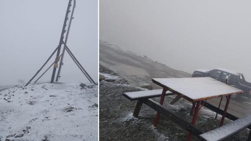 Huser Yaylası'nda kar sürprizi