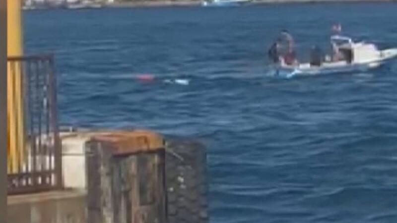 Boğazda kaçak midye avlayan tekne battı
