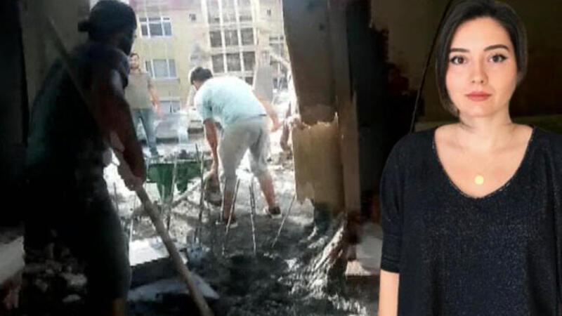 Yan tarafta yapılan inşaattan salonlarına beton doldu