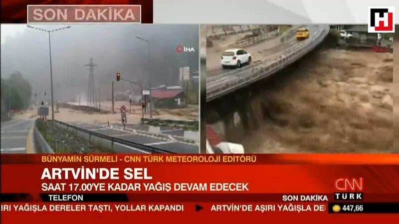 CNN Türk Meteoroloji Editörü Sürmeli, Artvin'de sele neden olan yağışla ilgili konuştu