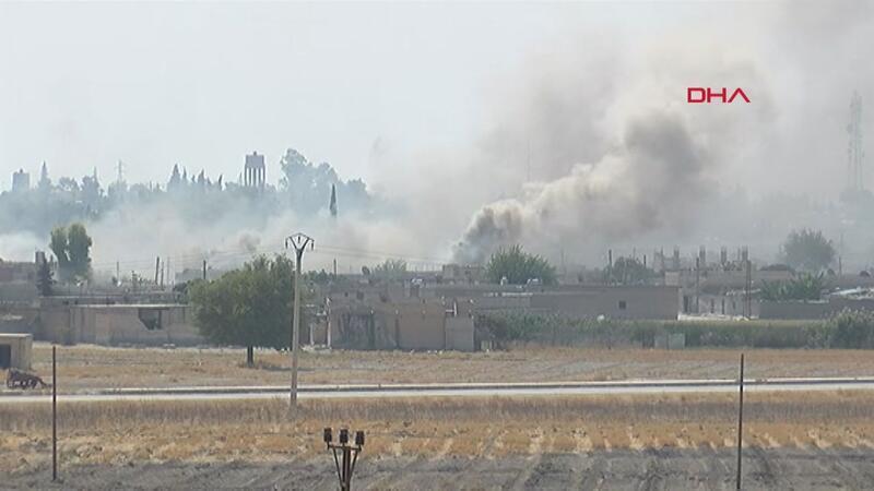 Tel Abyad'daki terör mevzileri vuruluyor