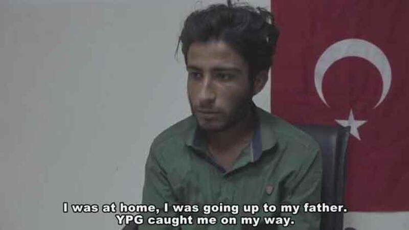 Güvenlik güçlerine teslim olan, terör örgütü PYD/YPG'li bir terörist kameralar karşısında itiraflarda bulundu
