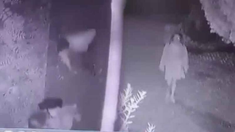 Evine giden genç kızın tacize maruz kaldığı anlar kamerada