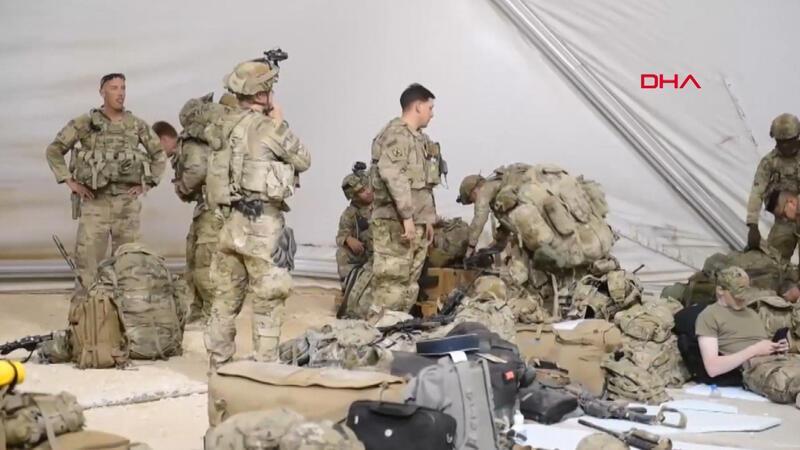 Suriye'yi terk eden ABD askerleri böyle hazırlık yaptı