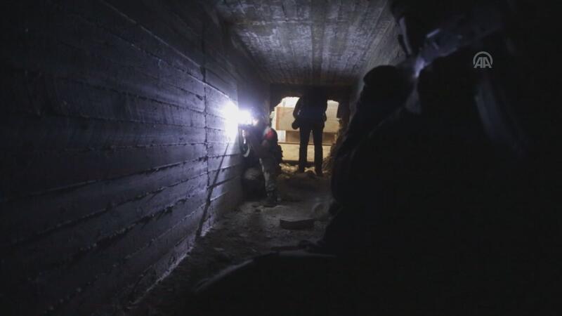 Tel Abyad'da YPG/PKK'lıların kazdığı tüneller ortaya çıkarıldı