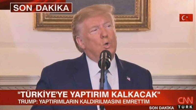 Trump: Türkiye'ye tüm yaptırımların kaldırılmasını emrettim