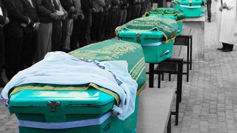 Yangın faciasında ölen baba ve 3 çocuğu toprağa verildi