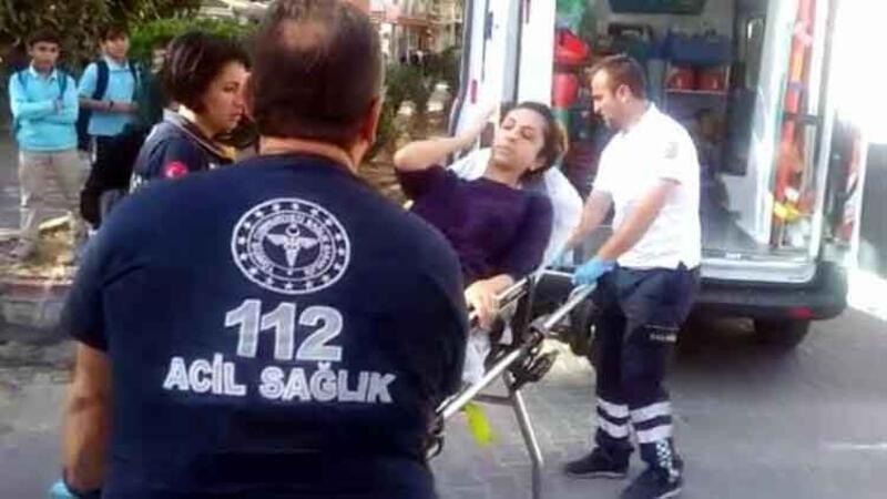 Azeri kadın, kazada yaralandı