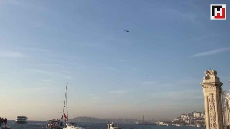 09.05'de polis helikopteri de durdu