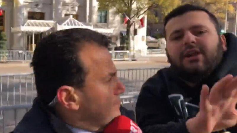 Terör yandaşlarından canlı yayında TRT'ye saldırı