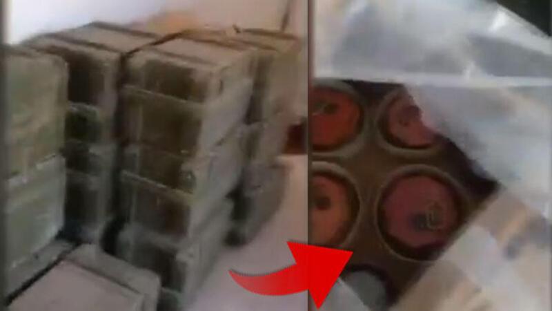 PKK/YPG'ye ait mayını deposu bulundu