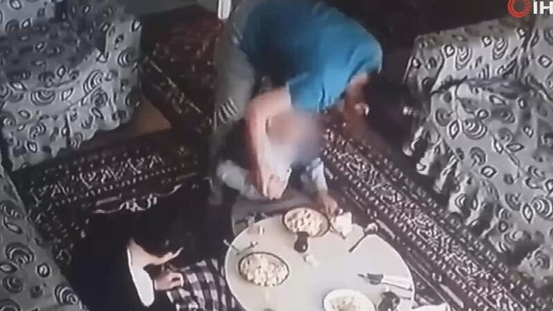 İzmir'de bakıcı şiddeti kamerada