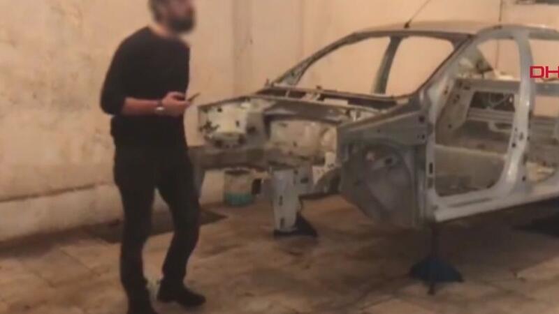 Çaldıkları araçları parçalayıp satan şüphelilere operasyon