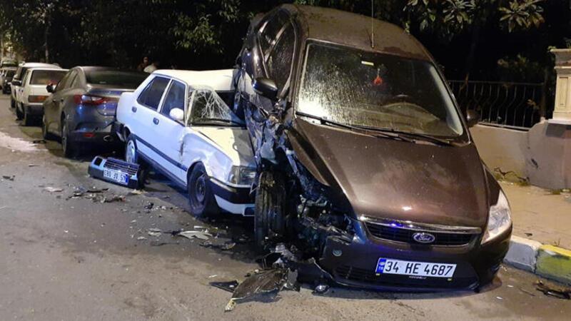 Polisten kaçan otomobilden feci kaza