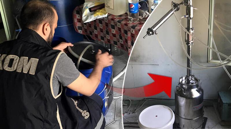 Adana'da 418 litre sahte rakı ele geçirildi