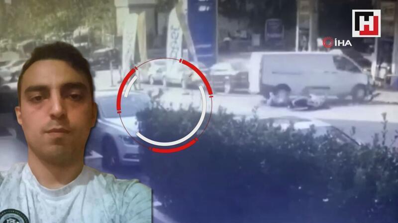 İstanbul'da motosikletli gencin feci ölümü kamerada