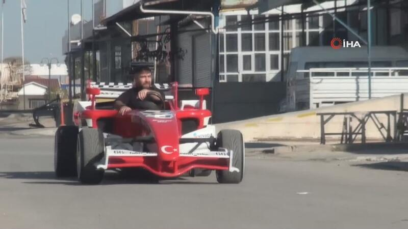 Yozgatlı kaporta ustası kendi imkanlarıyla 'Formula 1' aracı yaptı