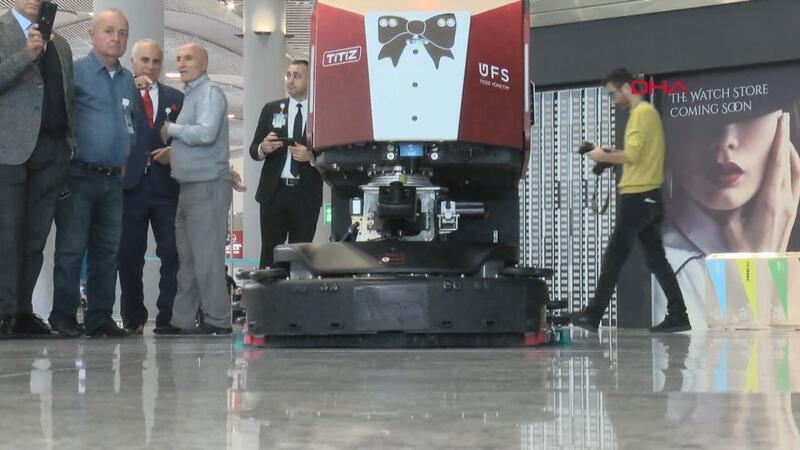 İstanbul Havalimanı temizliğinde robot dönemi