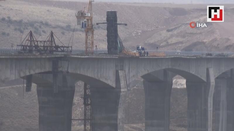 Hasankeyf'te vinç kazası