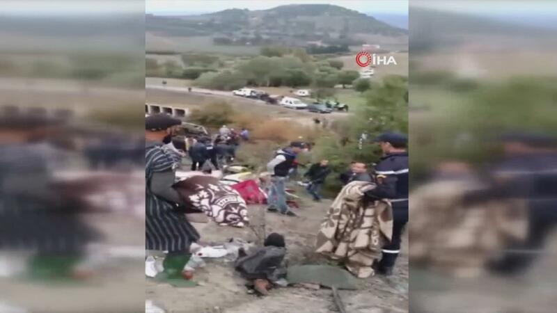 Fas'ta yolcu otobüsü devrildi: 17 ölü, 36 yaralı