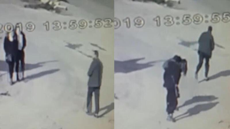 2 kadının yüzüne yakıcı sıvı atan şüpheli güvenlik kamerasında
