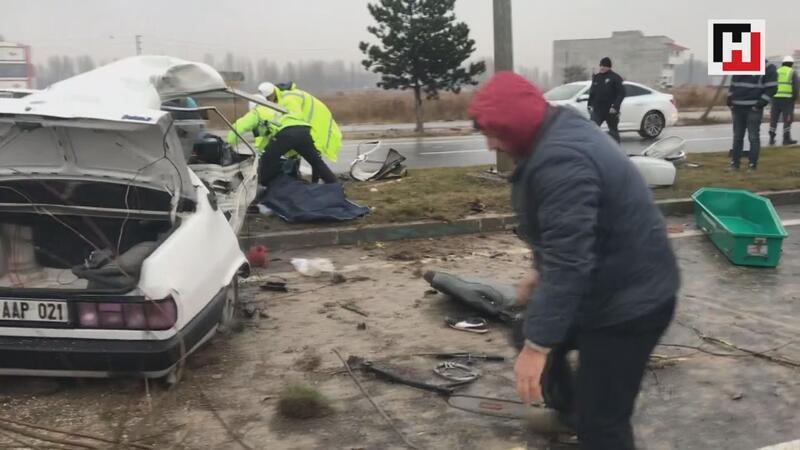 Trafik kazasında acı tesadüf