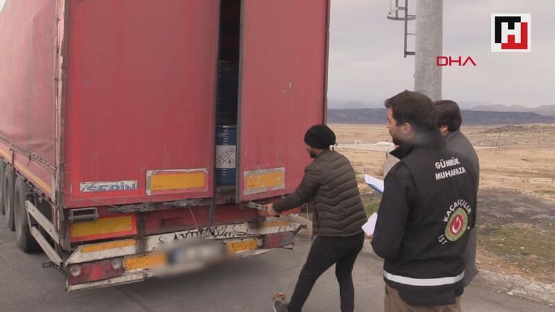 Gürbulak sınır kapısında 18,4 ton siyanür yakalandı
