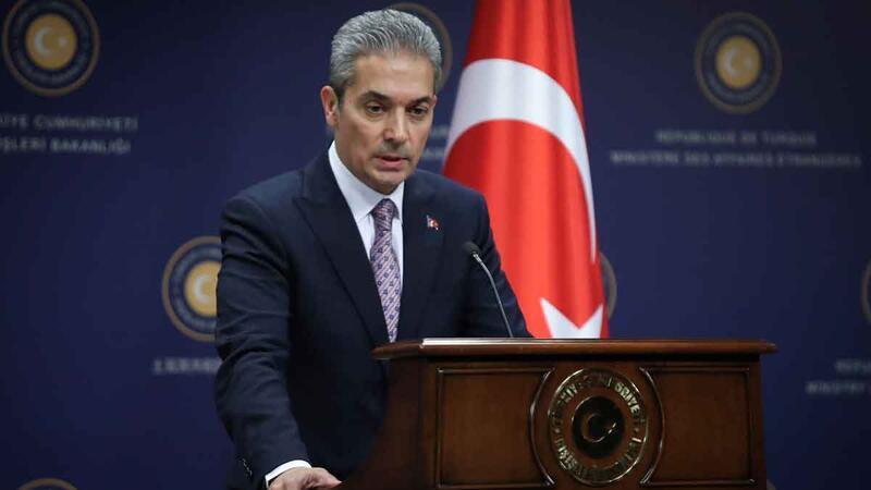 Dışişleri Bakanlığı Sözcüsü Hami Aksoy, bilgilendirme toplantısı düzenledi