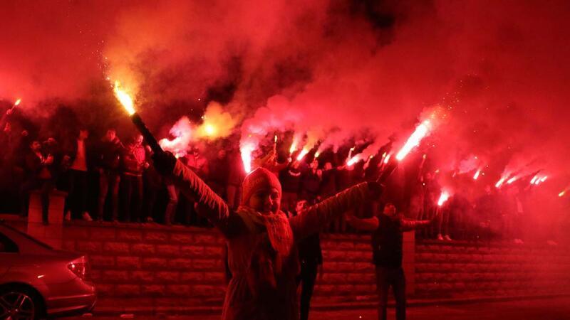 Kayserispor'a taraftarından meşaleli destek