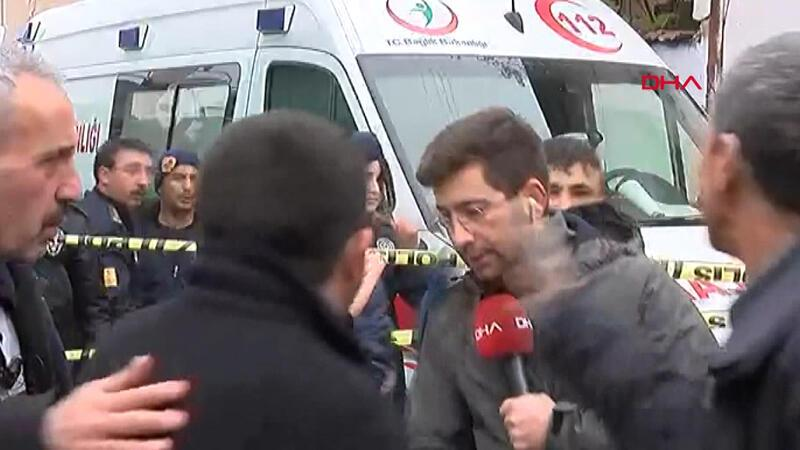 DHA muhabirine canlı yayında saldırı