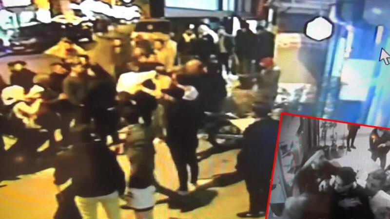Esenyurt'ta kız kaçırma iddiası sonrası yaşanan kavga kamerada