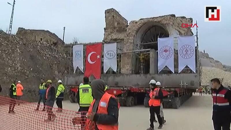 Ilısu Barajı altında kalacak olan Hasankeyf'te Er Rızık Camii taşınıyor