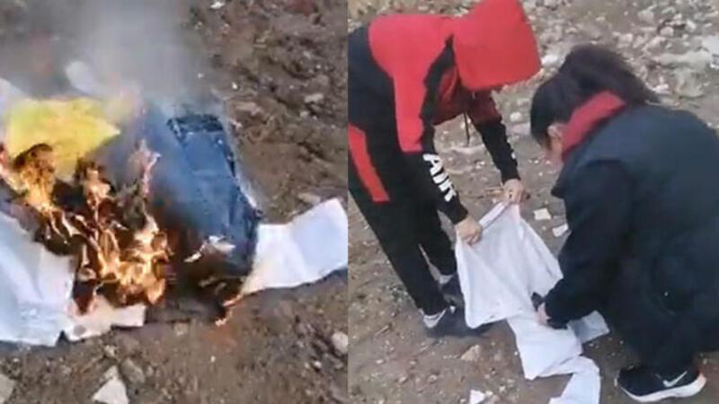 Aldatan eşinin kıyafetlerini yaktı, sosyal medyadan canlı yayın yaptı