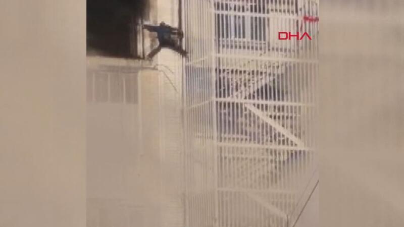 Başakşehir'de ölümden kaçış kamerada