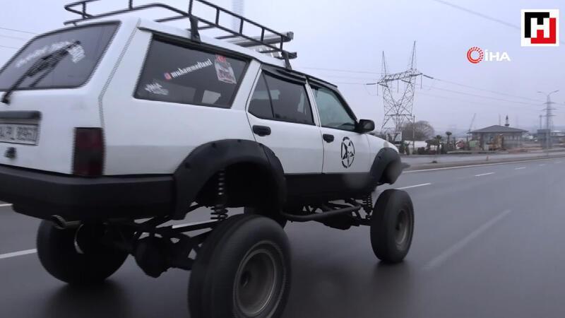 Baba yadigarı 96 model aracını off-road cipine çevirdi