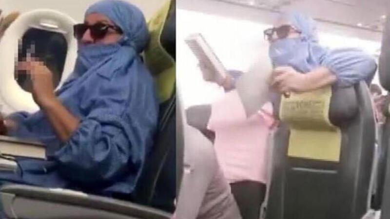 Uçakta olay çıkaran kadın mahkemede konuştu