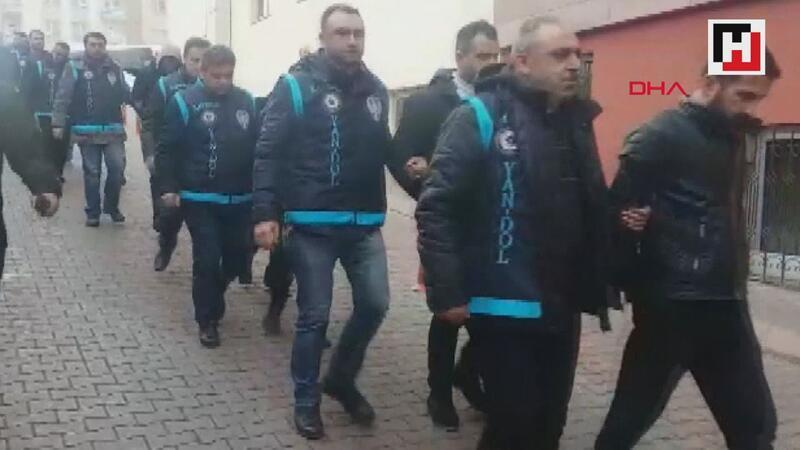 Kayseri'de 12 kişilik organize suç örgütü adliyede