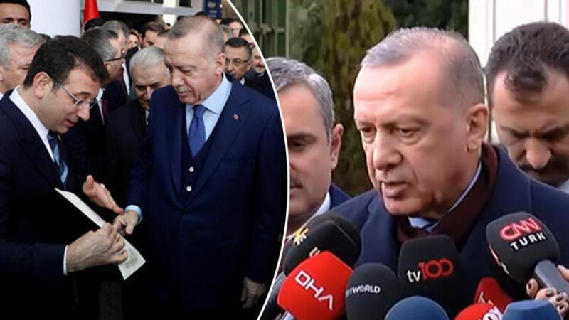 Cumhurbaşkanı Erdoğan'dan Ekrem İmamoğlu'nun mektubuyla ilgili açıklama