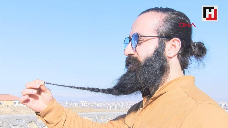 10 yılda 42 santimetre uzayan sakalını 10 bin liraya satılığa çıkardı