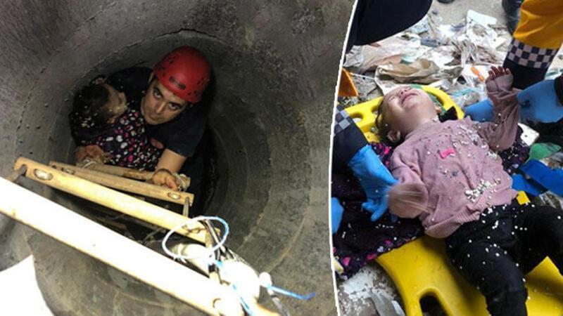 Arnavutköy'de dehşet anları! Küçük kızı böyle kurtardılar.