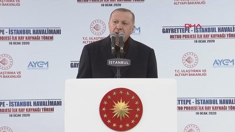 Gayrettepe-İstanbul Havalimanı metro hattı ilk ray kaynağı töreni