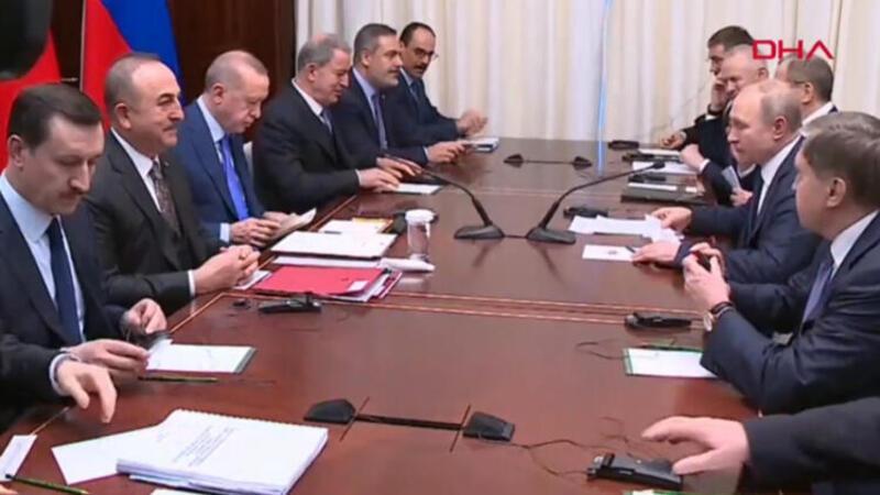 Cumhurbaşkanı Erdoğan- Putin görüşmesi