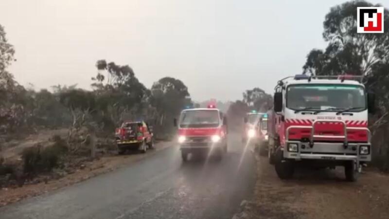 Yağışlar Avustralyalı itfaiyecilerin imdadına yetişti