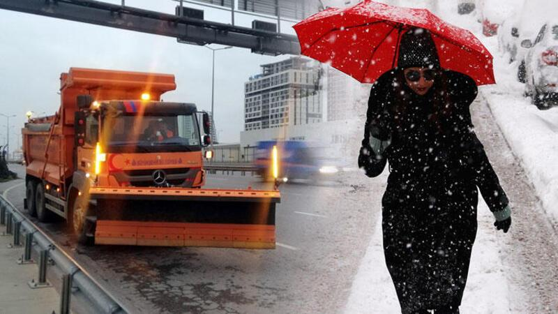 İstanbul'un yüksek kesimlerinde kar