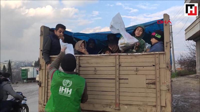 İHH'den, Halep'in batı ve güneyinden göç eden ailelere yardım