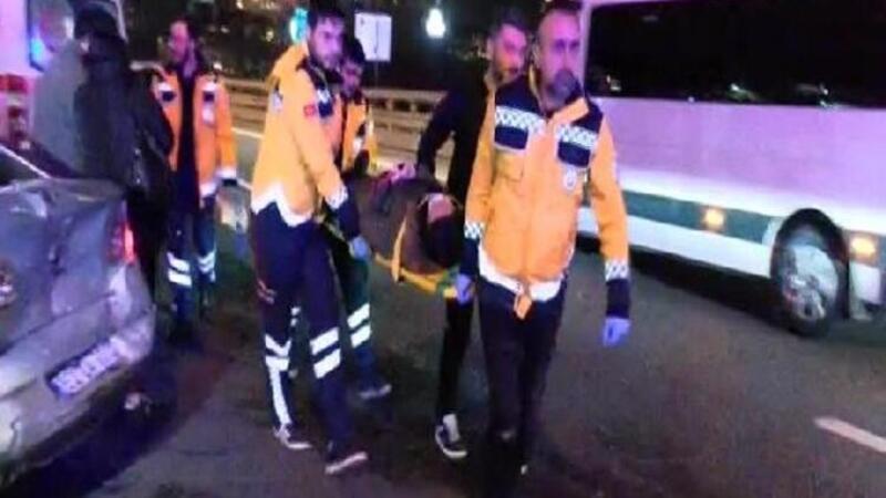 TEM Seyrantepe'de 6 aracın karıştığı kaza