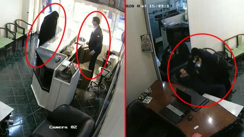 Erzincan'da kuyumcu soygunu anı güvenlik kamerasında
