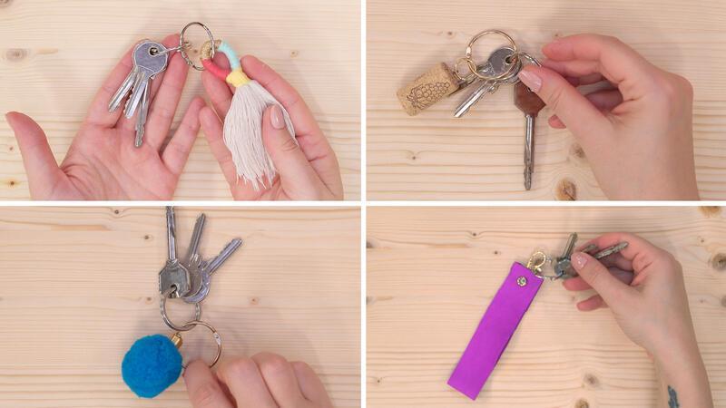 Ev yapımı pratik 4 anahtarlık modeli